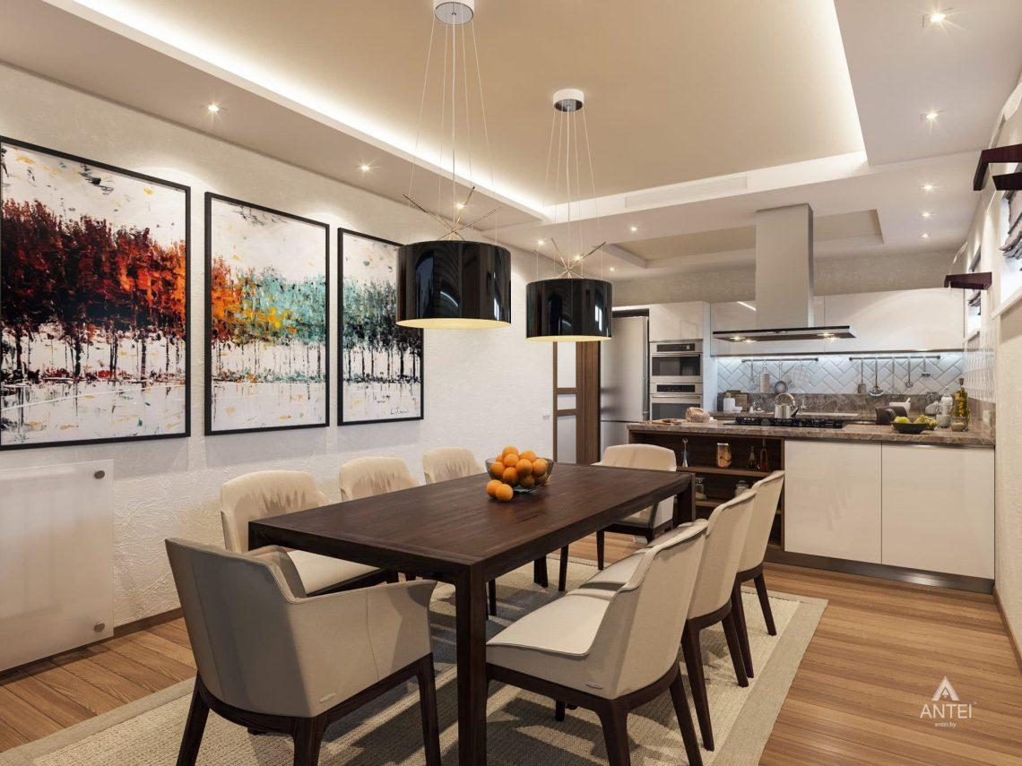 Дизайн интерьера кухни в цокольном этаже коттеджа в Гомеле - фото №2