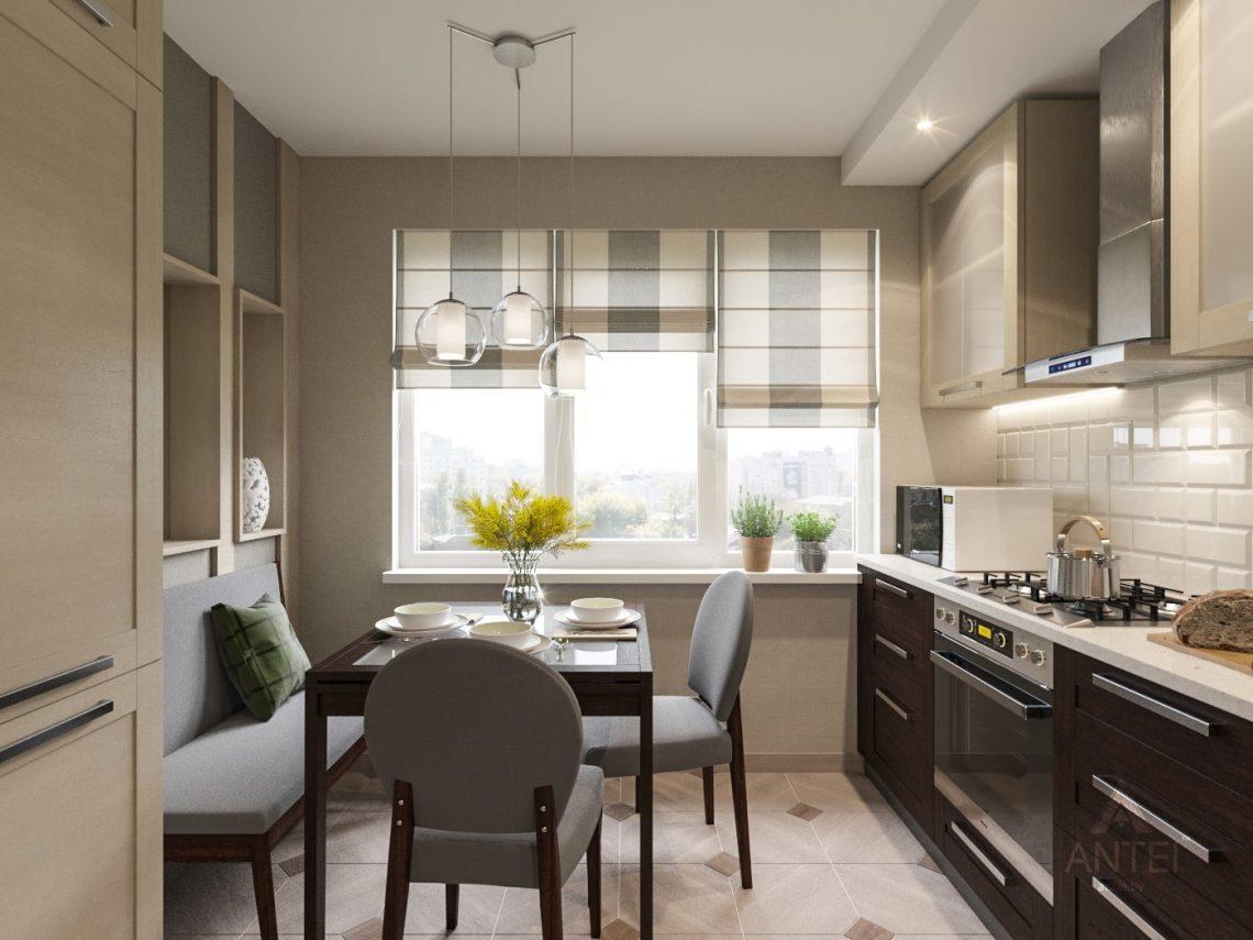 Дизайн интерьера трехкомнатной квартиры в Рогачеве - кухня фото №1