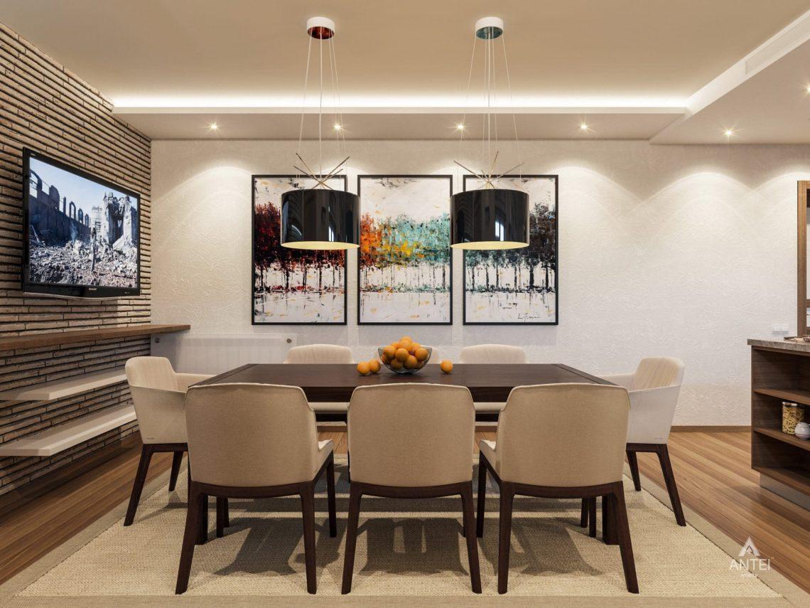Дизайн интерьера кухни в цокольном этаже коттеджа в Гомеле - фото №3