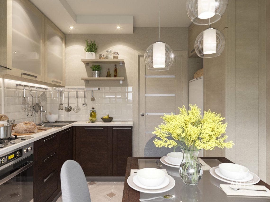 Дизайн интерьера трехкомнатной квартиры в Рогачеве - кухня фото №3