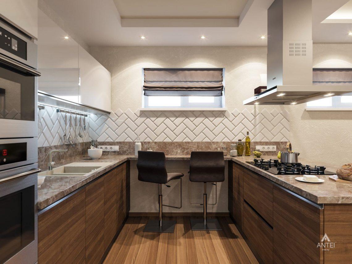 Дизайн интерьера кухни в цокольном этаже коттеджа в Гомеле - фото №4