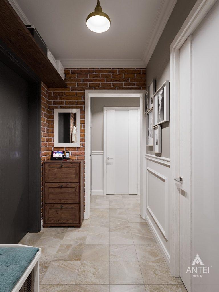 Дизайн интерьера двухкомнатной квартиры в Гомеле - прихожая фото №1