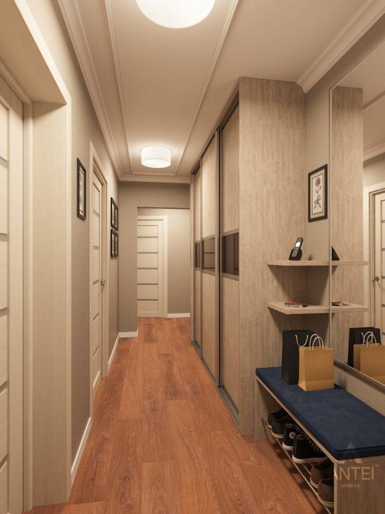 Дизайн интерьера трехкомнатной квартиры в Рогачеве - прихожая фото №1