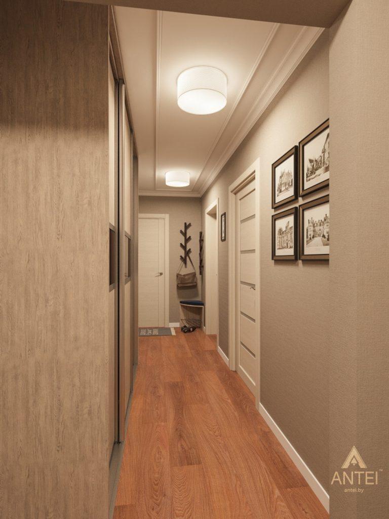 Дизайн интерьера трехкомнатной квартиры в Рогачеве - прихожая фото №2