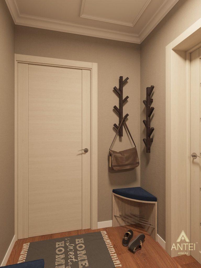 Дизайн интерьера трехкомнатной квартиры в Рогачеве - прихожая фото №3