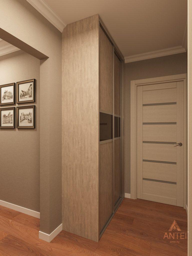 Дизайн интерьера трехкомнатной квартиры в Рогачеве - прихожая фото №4