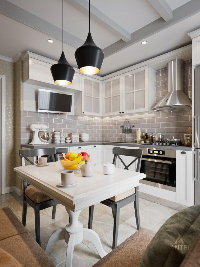 Дизайн интерьера двухкомнатной квартиры в Гомеле - кухня фото №2