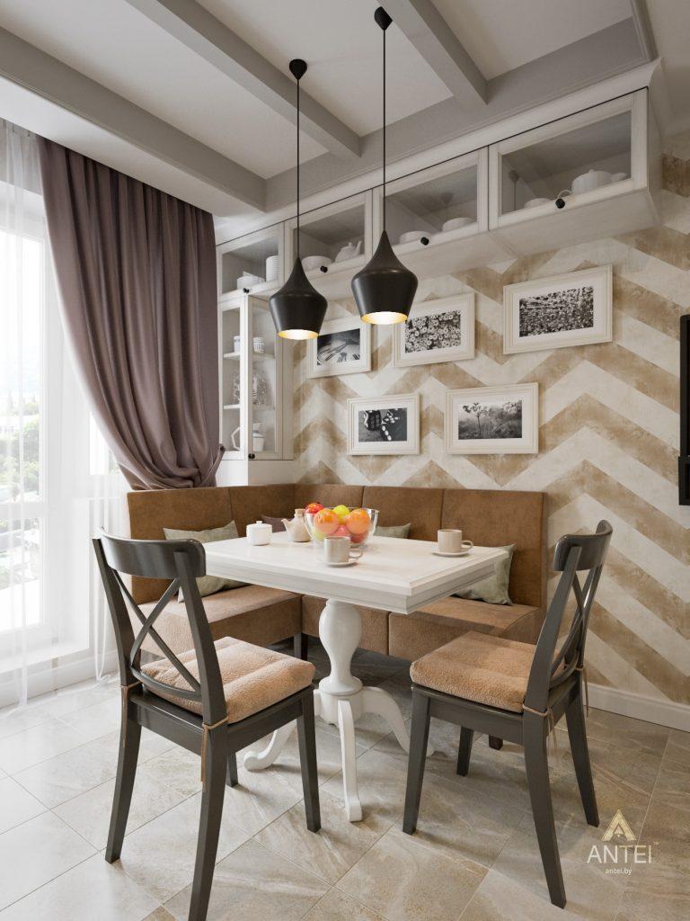 Дизайн интерьера двухкомнатной квартиры в Гомеле - кухня фото №3