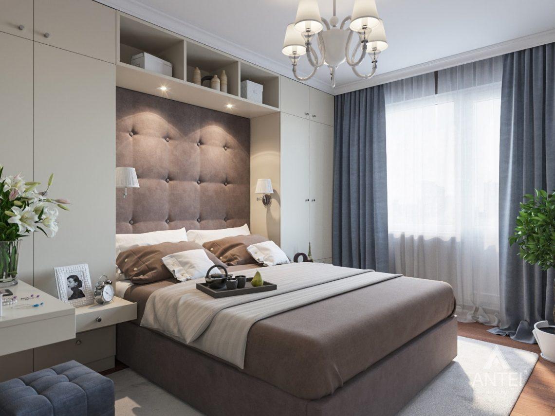 Дизайн интерьера трехкомнатной квартиры в Рогачеве - спальня фото №2