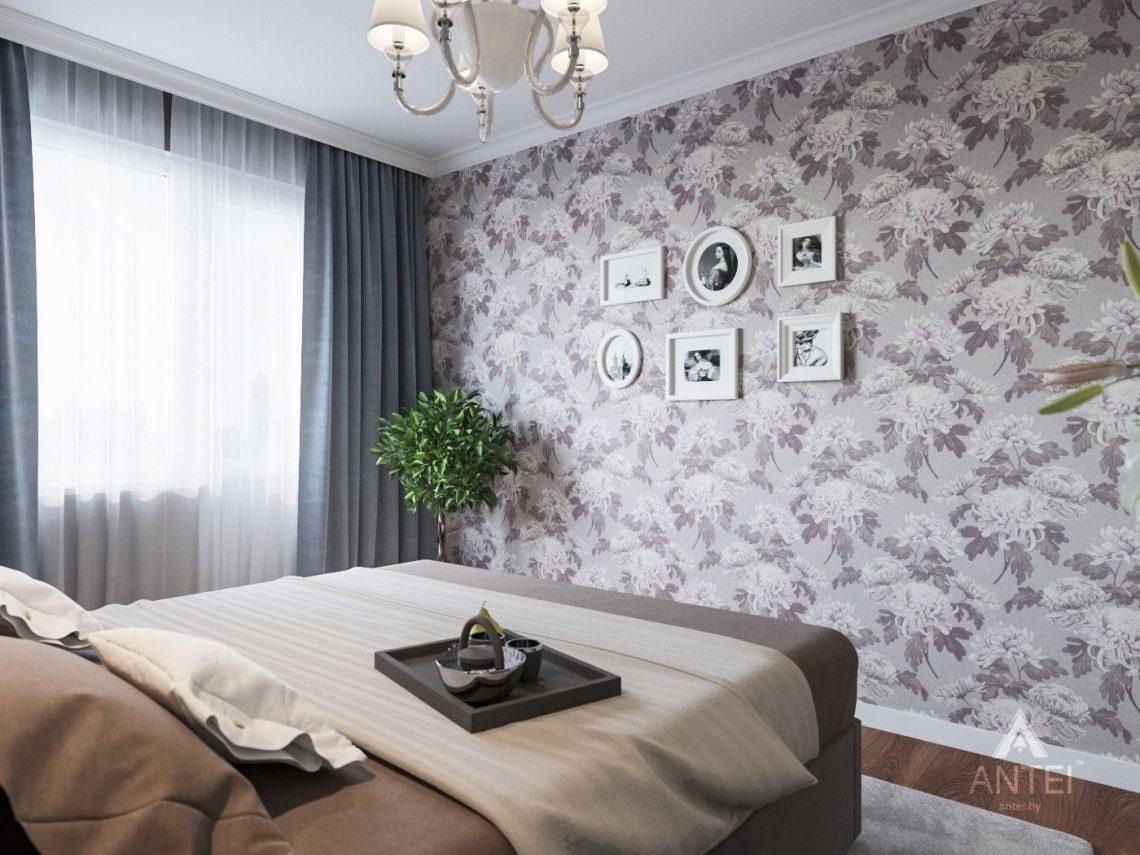 Дизайн интерьера трехкомнатной квартиры в Рогачеве - спальня фото №3