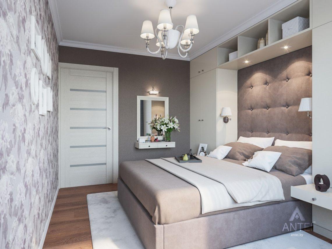 Дизайн интерьера трехкомнатной квартиры в Рогачеве - спальня фото №1