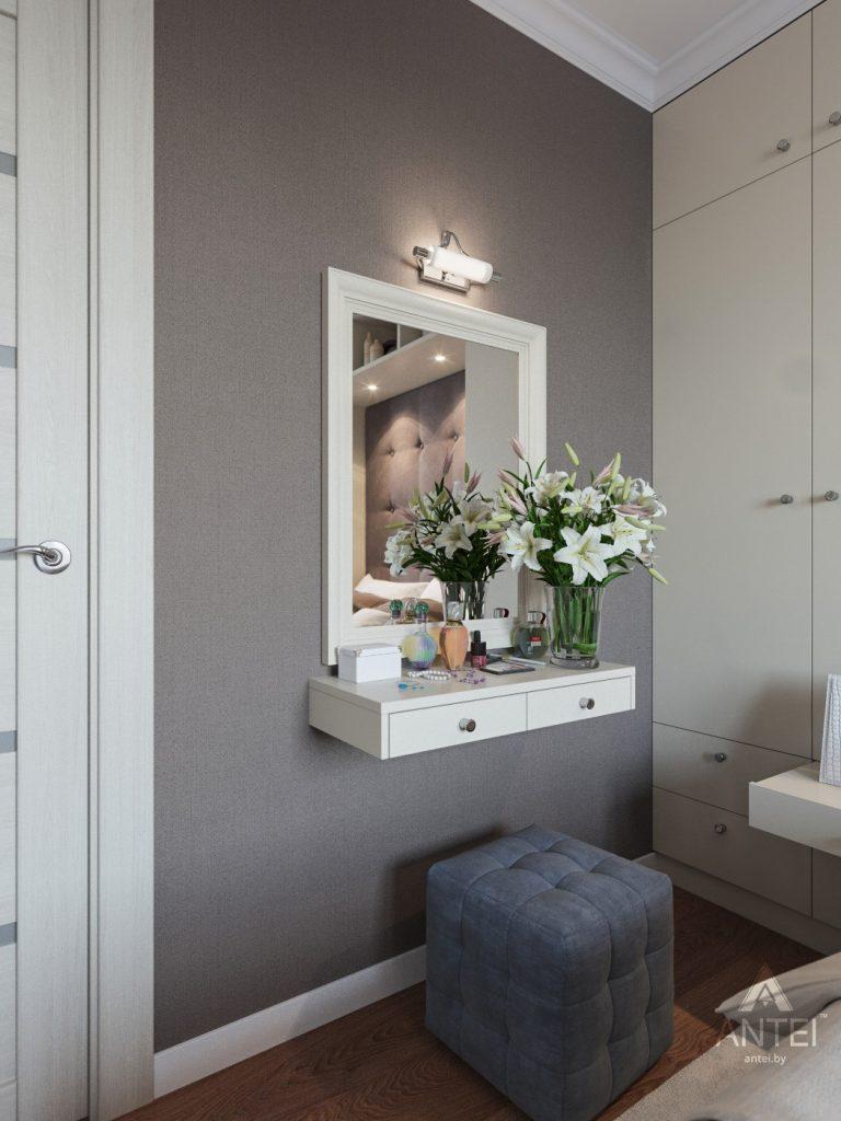 Дизайн интерьера трехкомнатной квартиры в Рогачеве - спальня фото №4