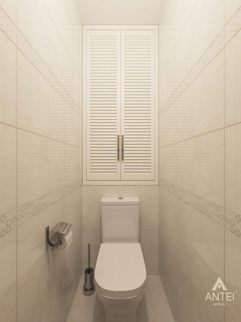 Дизайн интерьера трехкомнатной квартиры в Рогачеве - туалет фото №1
