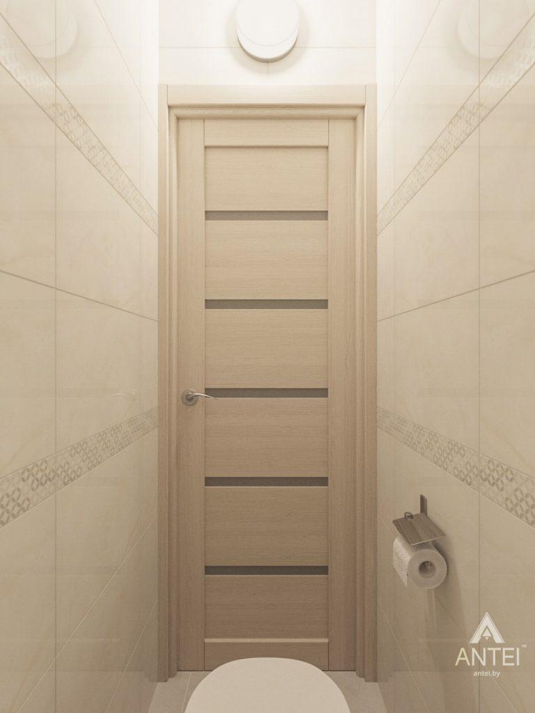 Дизайн интерьера трехкомнатной квартиры в Рогачеве - туалет фото №2