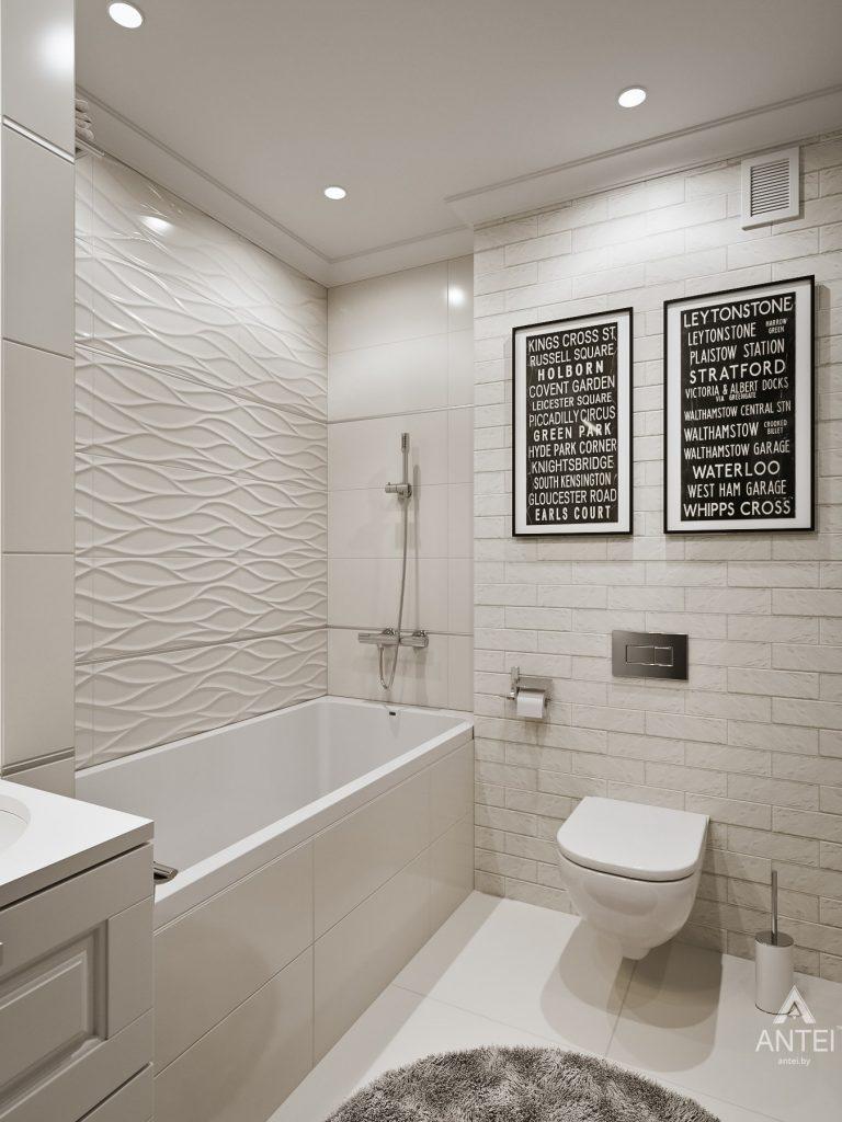 Дизайн интерьера двухкомнатной квартиры в Мозыре - ванная фото №3
