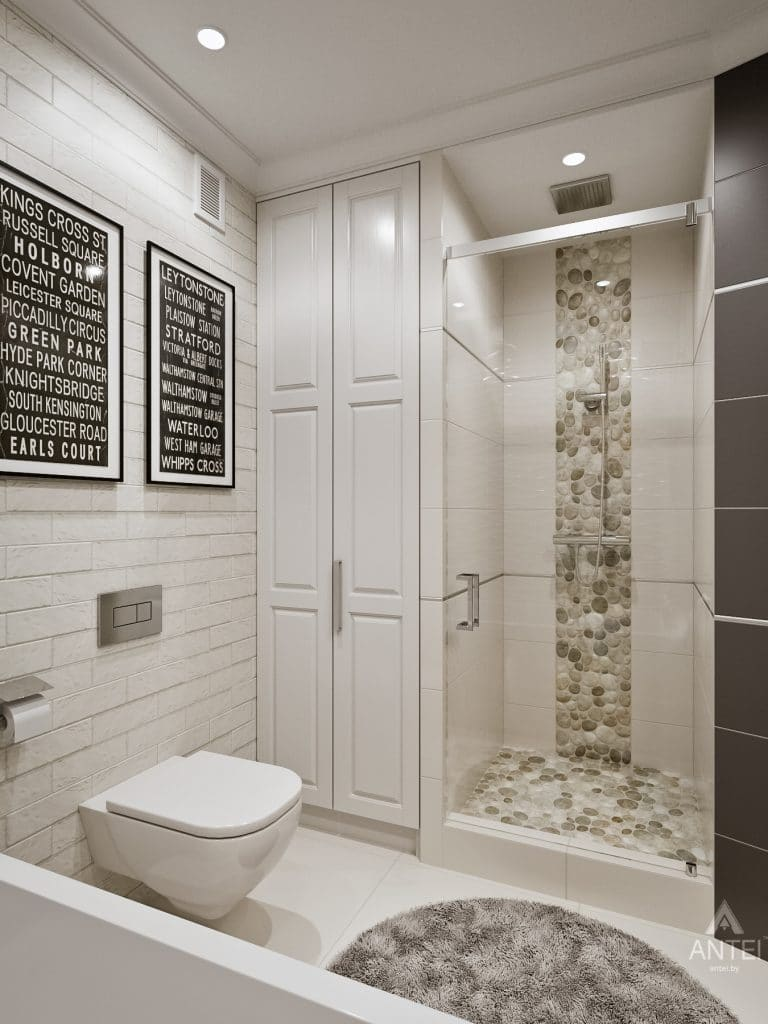 Дизайн интерьера двухкомнатной квартиры в Мозыре - ванная фото №4