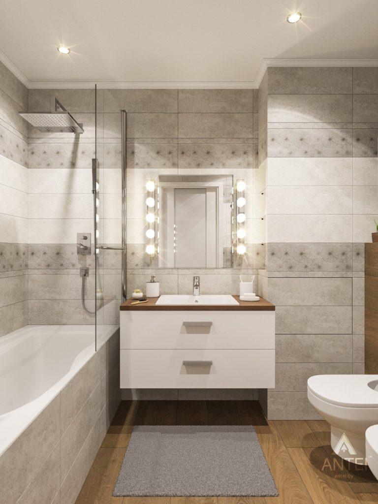 Дизайн интерьера двухкомнатной квартиры в Гомеле - ванная фото №1