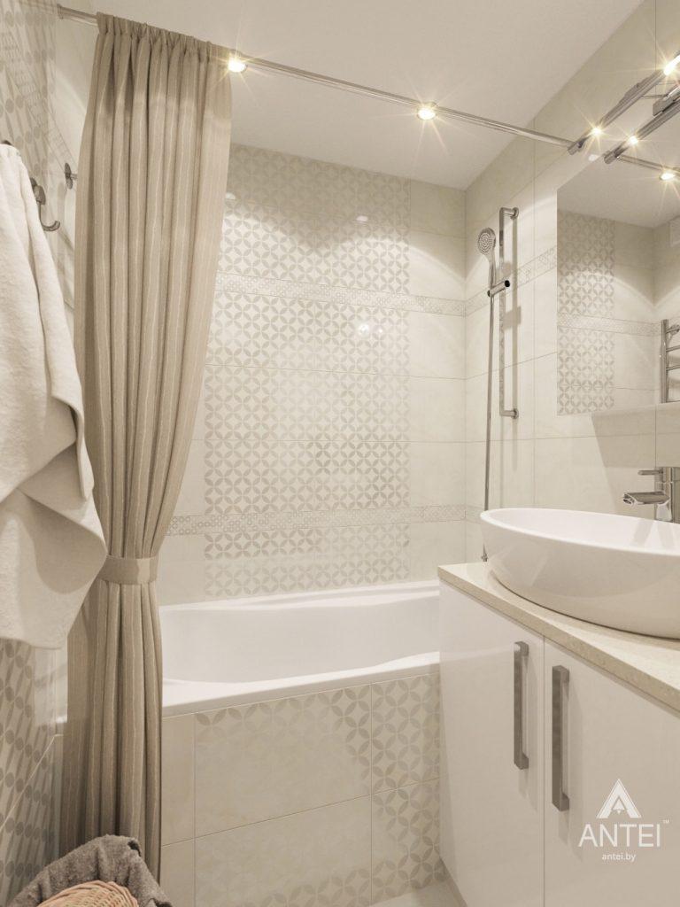 Дизайн интерьера трехкомнатной квартиры в Рогачеве - ванная фото №2