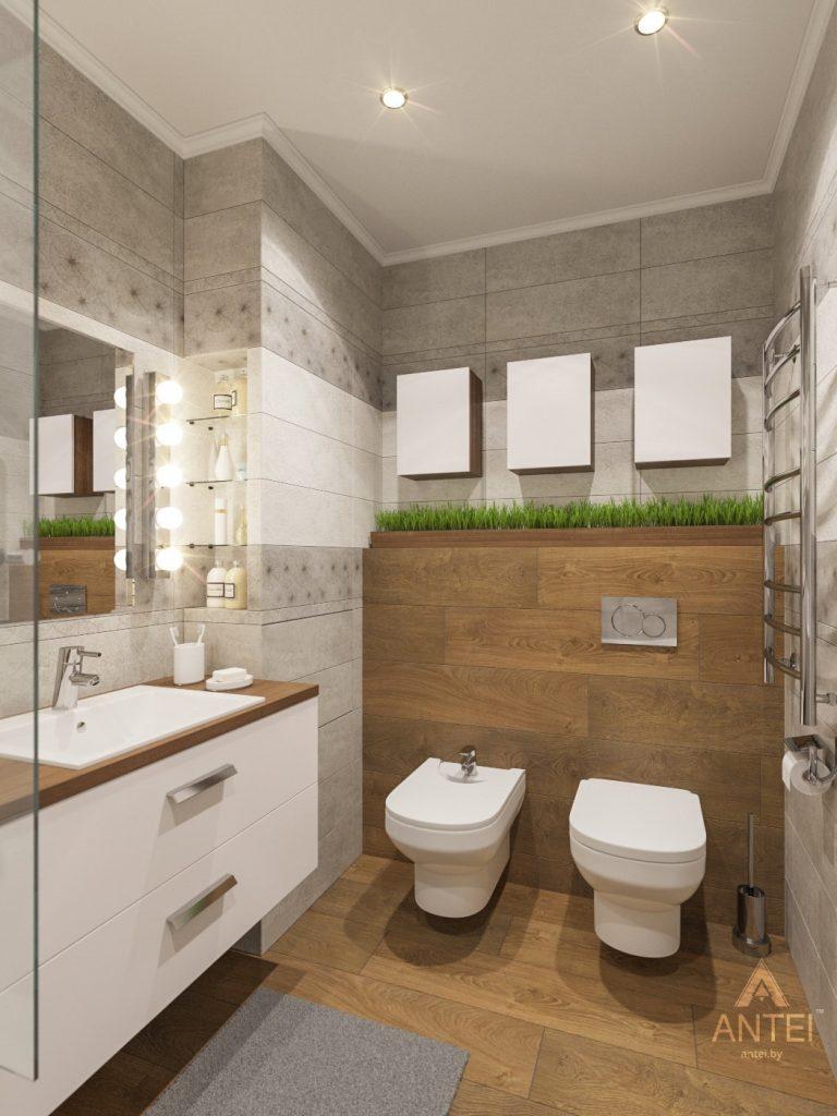 Дизайн интерьера двухкомнатной квартиры в Гомеле - ванная фото №2