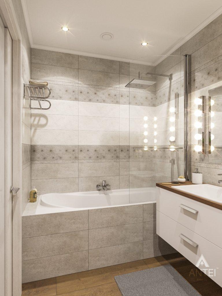 Дизайн интерьера двухкомнатной квартиры в Гомеле - ванная фото №3