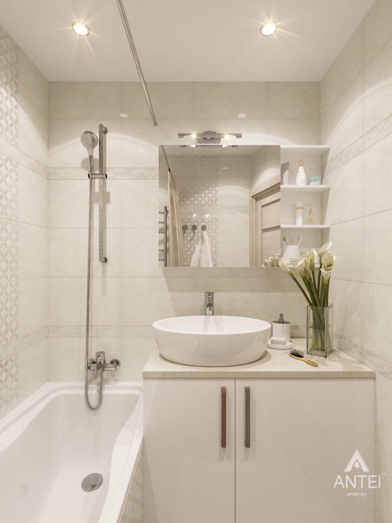 Дизайн интерьера трехкомнатной квартиры в Рогачеве - ванная фото №1