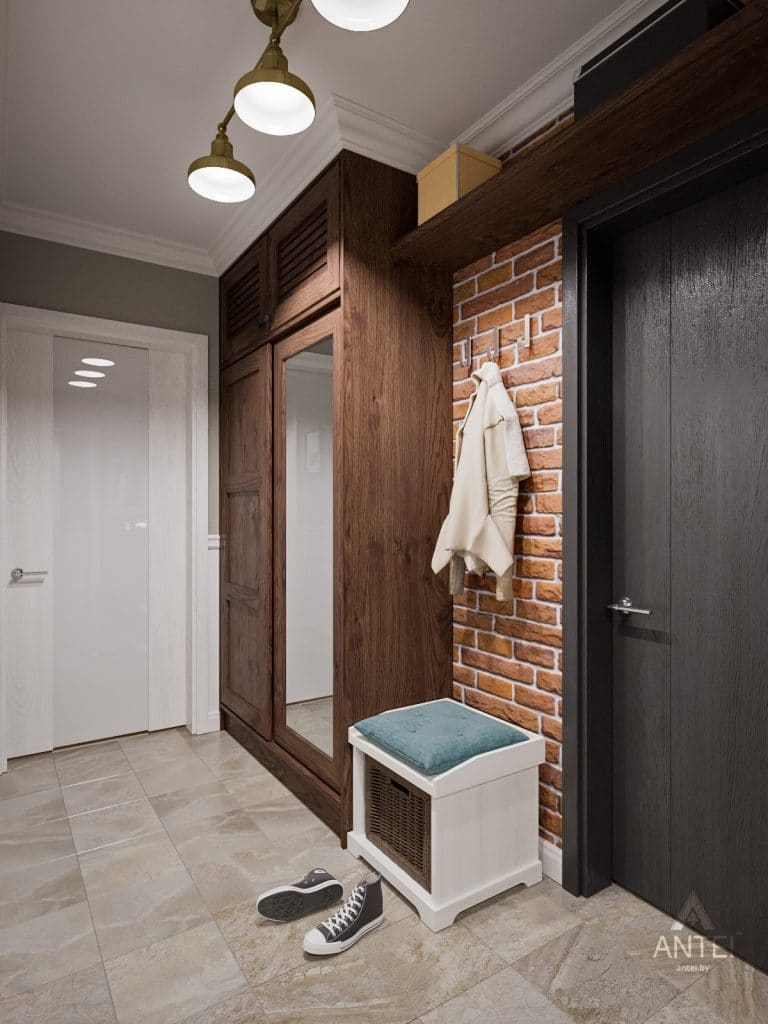 Дизайн интерьера двухкомнатной квартиры в Гомеле - прихожая фото №2