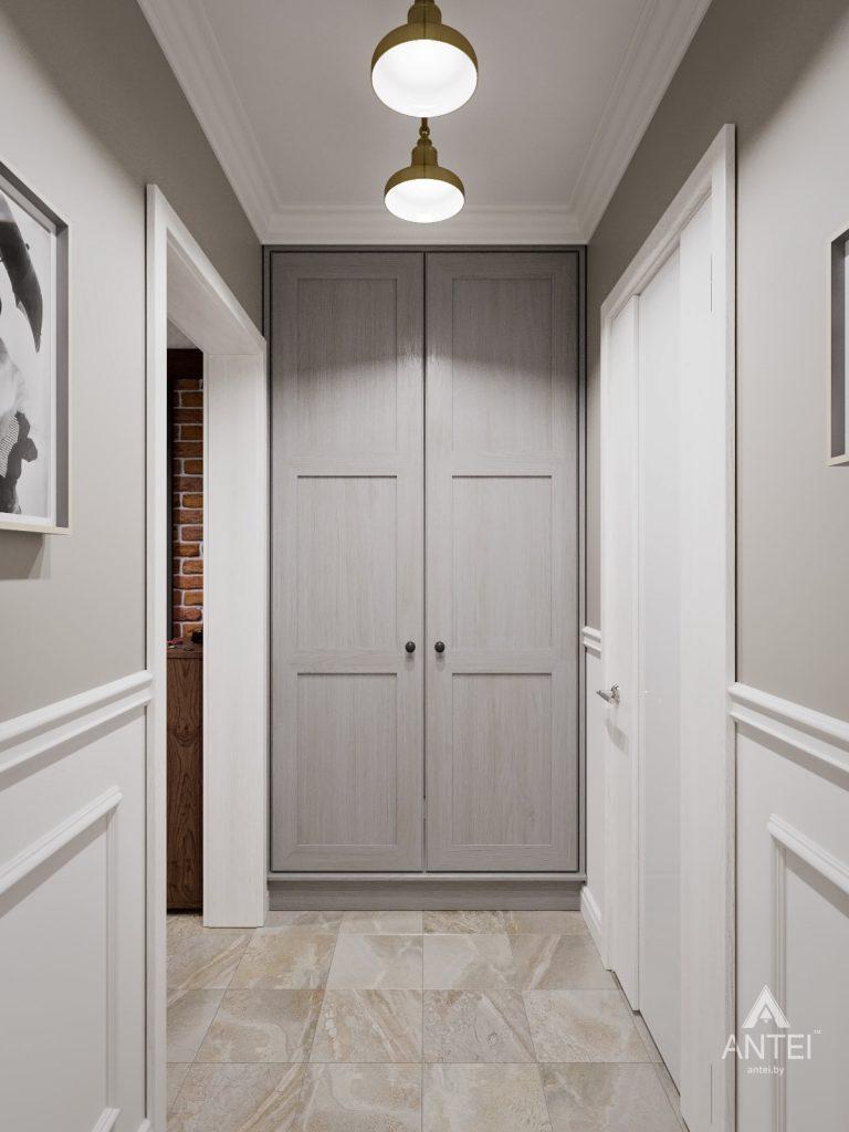 Дизайн интерьера двухкомнатной квартиры в Гомеле - прихожая фото №3