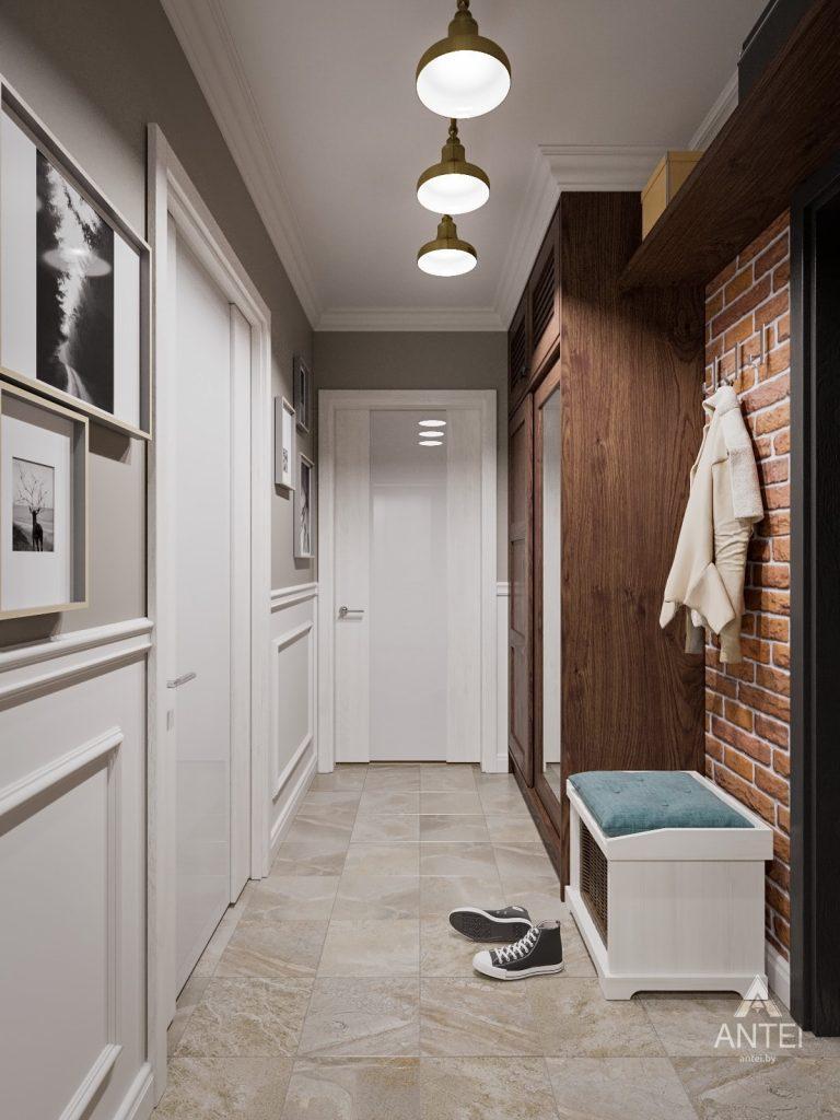 Дизайн интерьера двухкомнатной квартиры в Гомеле - прихожая фото №5