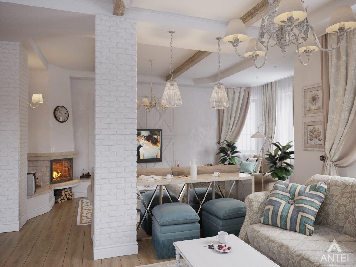 Дизайн интерьера загородного дома в Гомельском районе - гостиная фото №4