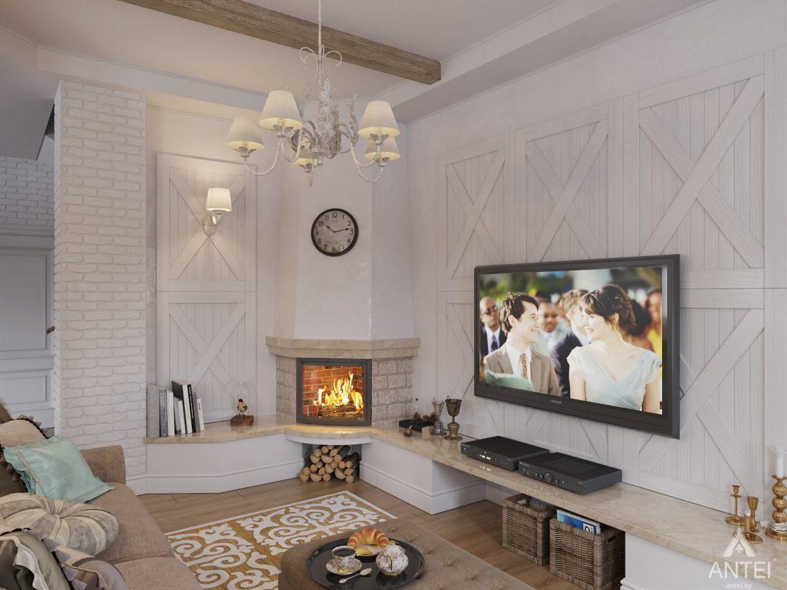 Дизайн интерьера загородного дома в Гомельском районе - гостиная фото №2