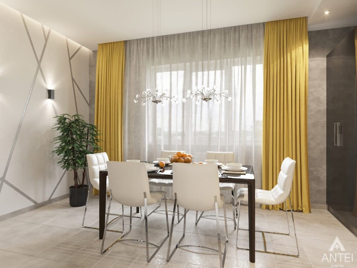 Дизайн интерьера загородного дома в Речице - кухня фото №3