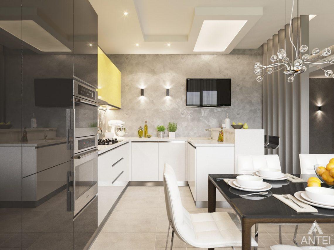 Дизайн интерьера загородного дома в Речице - кухня фото №1