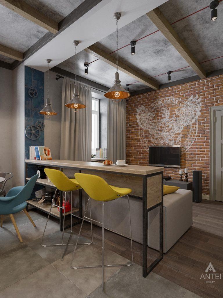 Дизайн интерьера квартиры в Гомель, пр. Ленина - кухня-гостиная фото №2
