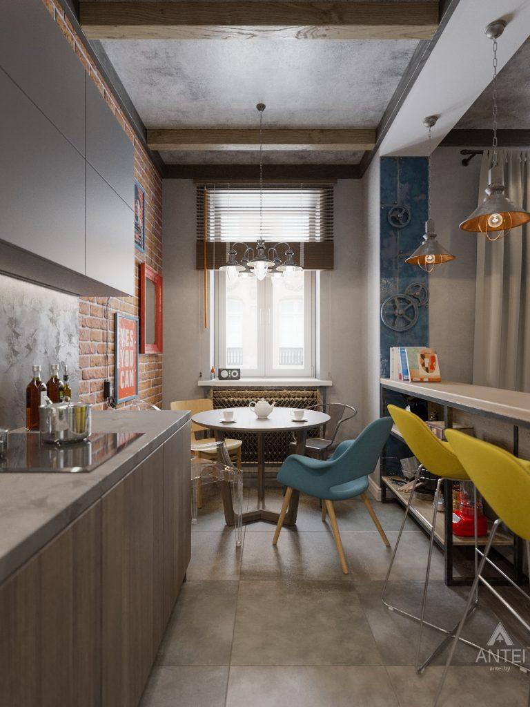 Дизайн интерьера квартиры в Гомель, пр. Ленина - кухня-гостиная фото №3