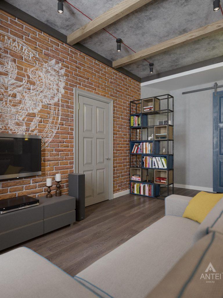 Дизайн интерьера квартиры в Гомель, пр. Ленина - кухня-гостиная фото №5