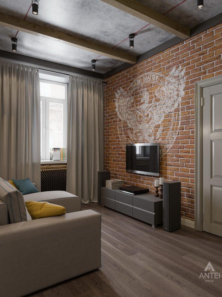 Дизайн интерьера квартиры в Гомель, пр. Ленина - кухня-гостиная фото №6