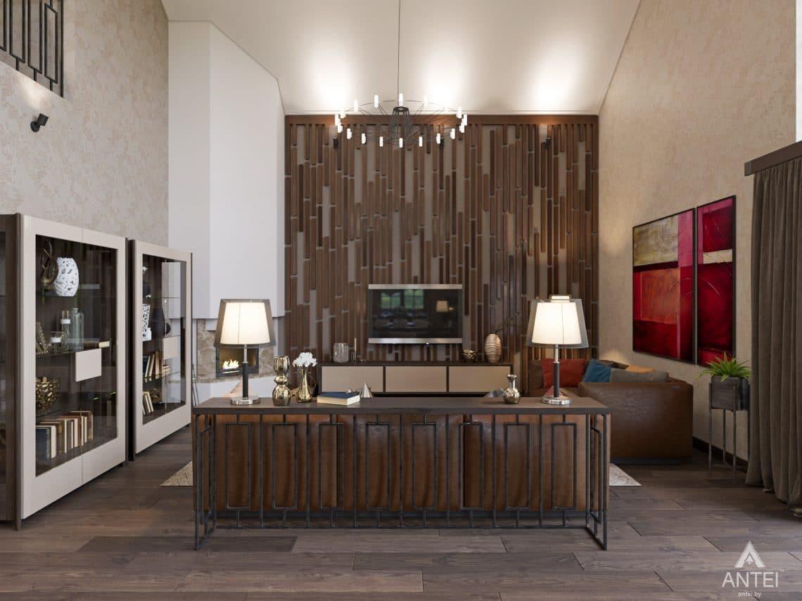 Дизайн интерьера коттеджа в Гомеле, Садовое товарищество - гостиная фото №2