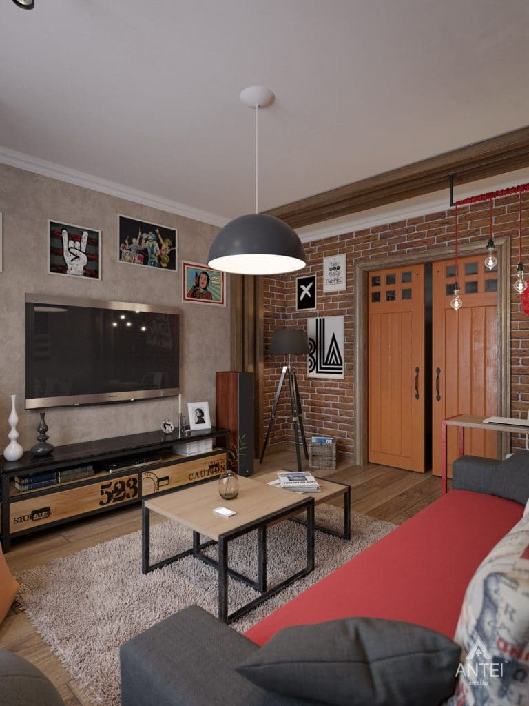 Дизайн интерьера коттеджа в Гомеле, Садовое товарищество - гостиная фото №3