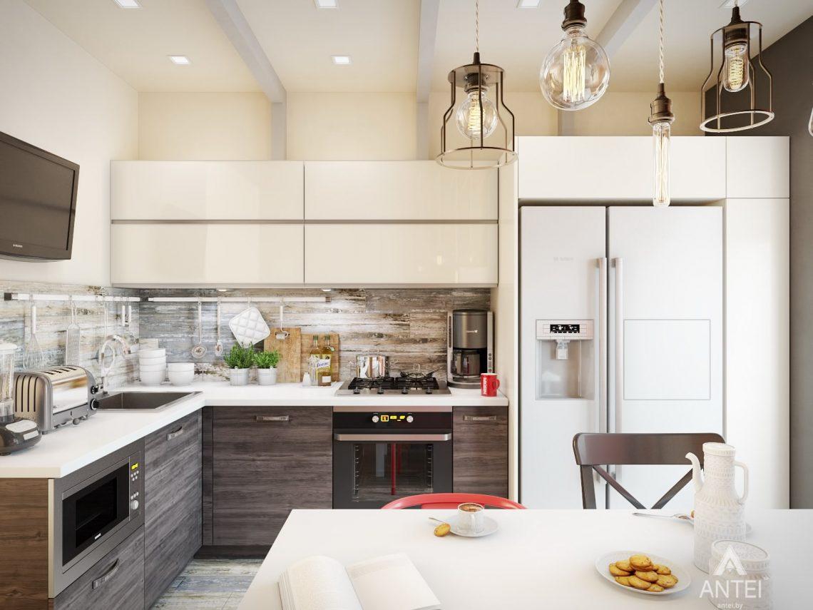 Дизайн интерьера квартиры в Гомеле, ул. Пенязькова - кухня фото №1