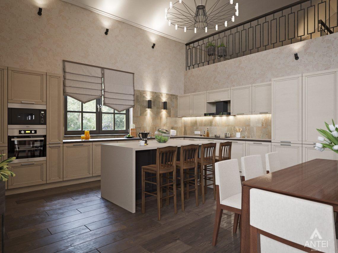 Дизайн интерьера коттеджа в Гомеле, Садовое товарищество - кухня фото №3