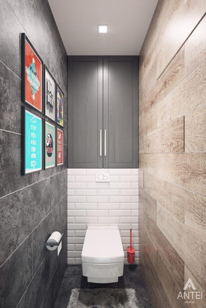 Дизайн интерьера квартиры в Гомеле, ул. Пенязькова - санузел фото №2