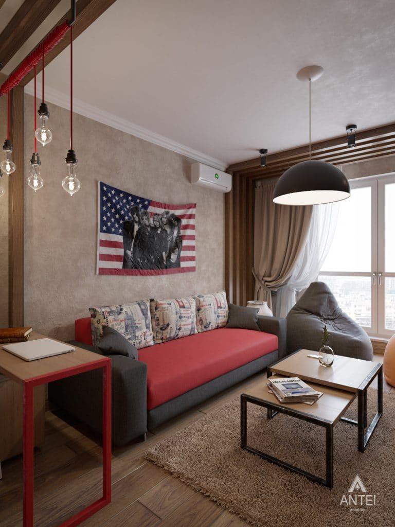 Дизайн интерьера квартиры в Гомеле, ул. Пенязькова - гостиная фото №1