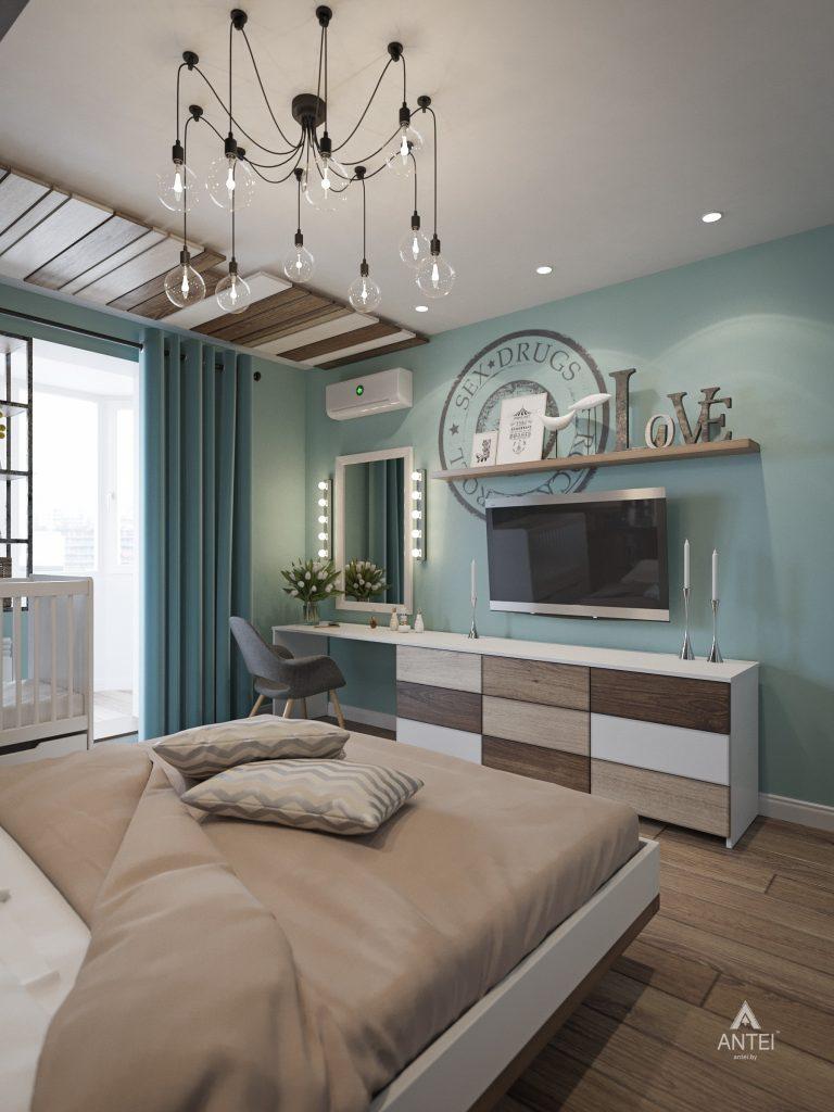 Дизайн интерьера квартиры в Гомеле, ул. Пенязькова - спальня фото №1