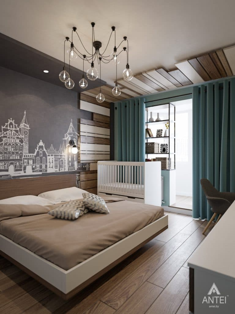 Дизайн интерьера квартиры в Гомеле, ул. Пенязькова - спальня фото №2