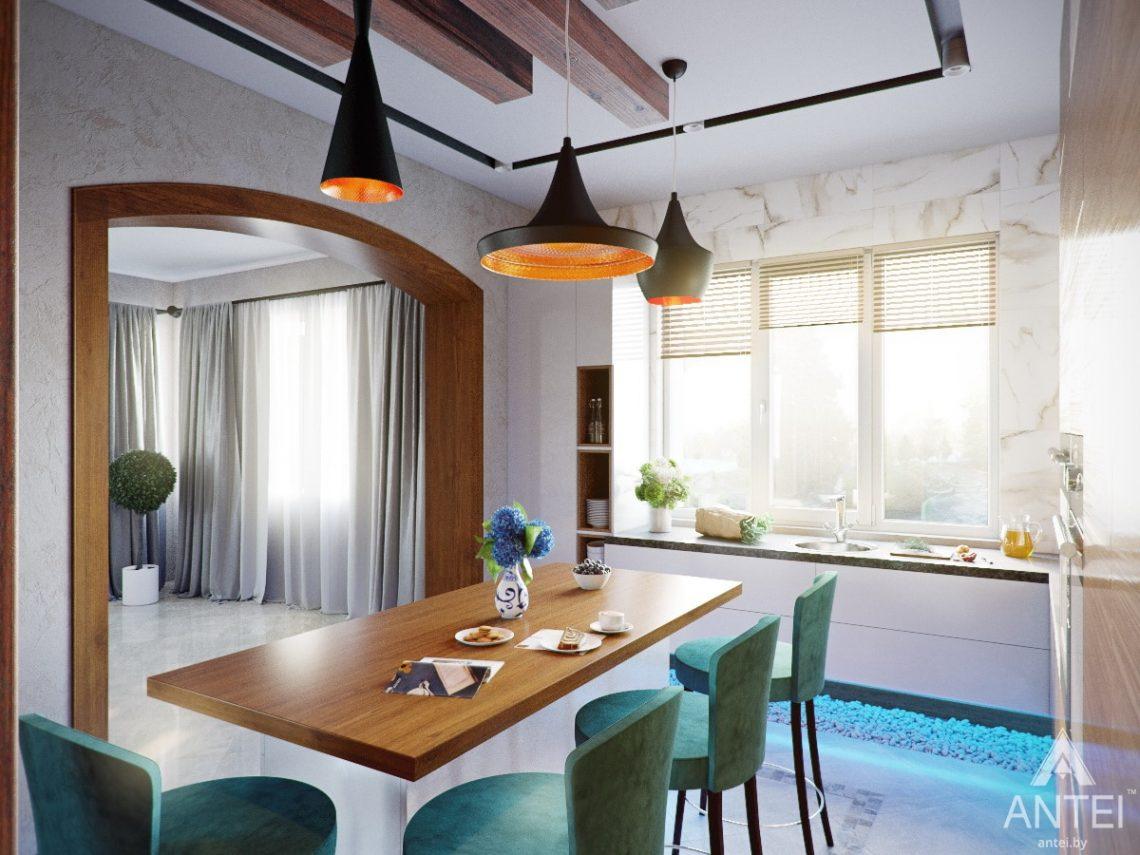 Дизайн интерьера коттеджа в Гомеле, Романовичи - кухня фото №2