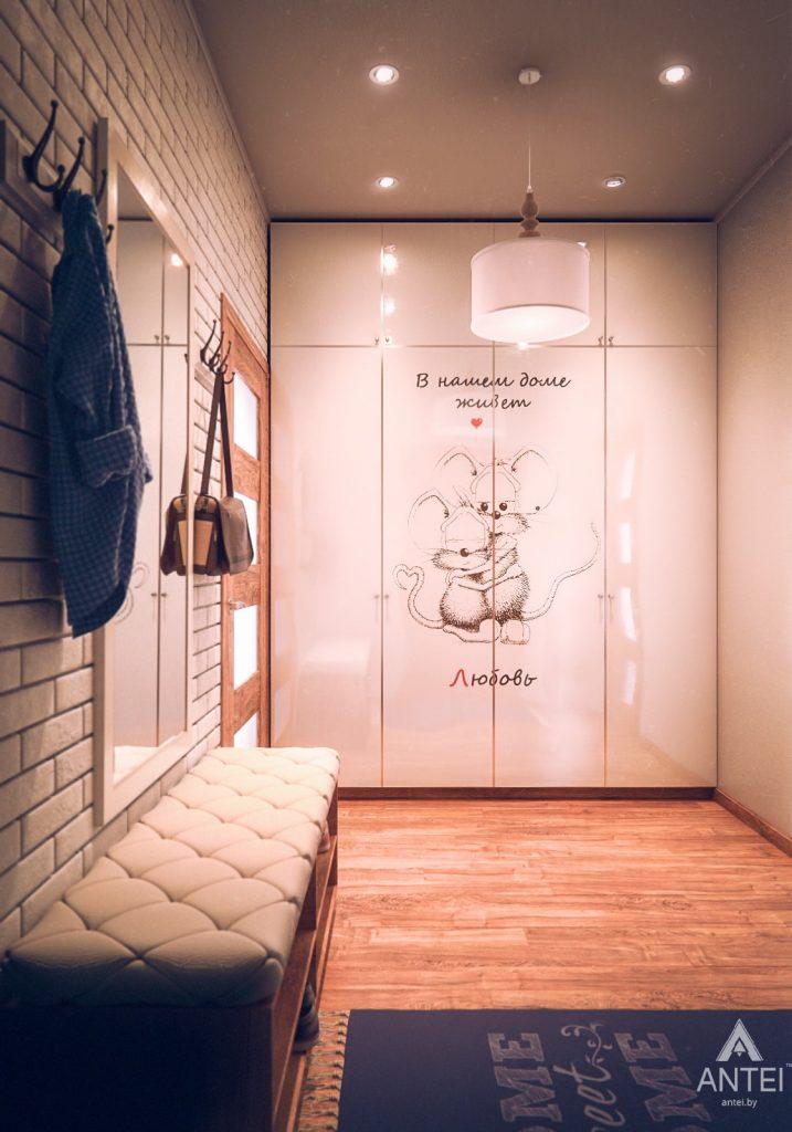 Дизайн интерьера загородного дома в Минском районе - прихожая фото №1