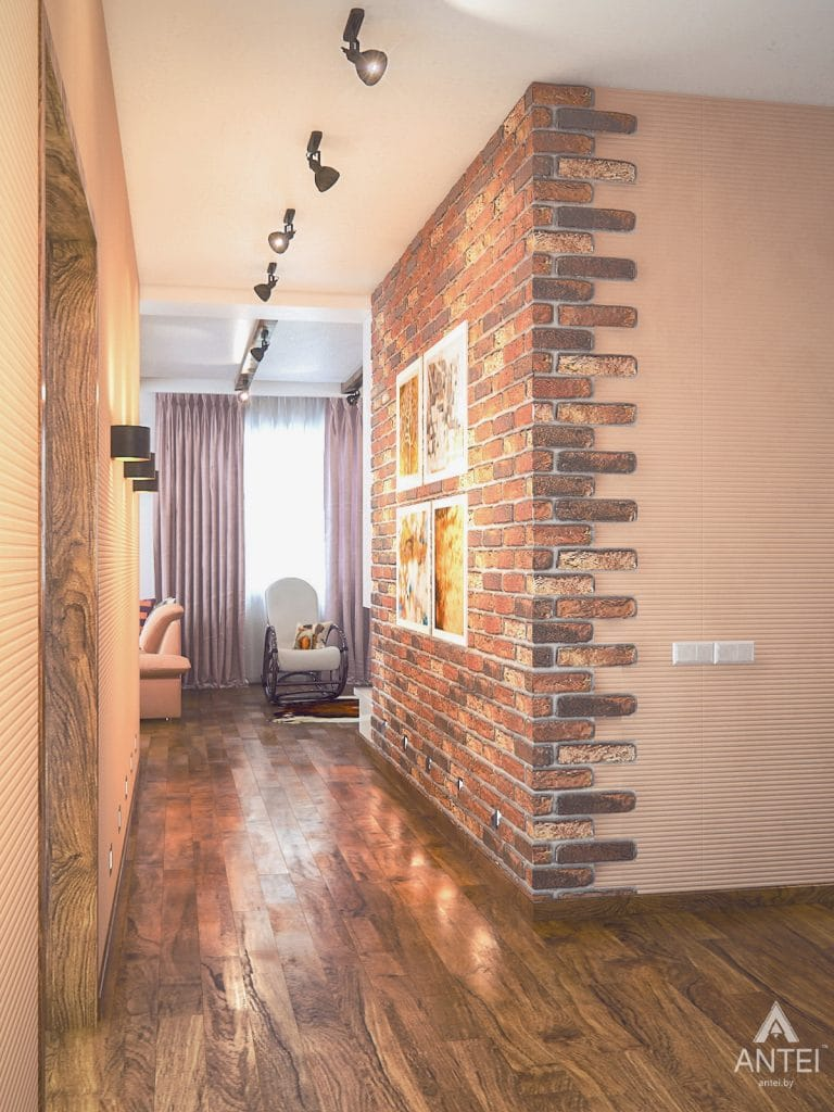 Дизайн интерьера загородного дома в Минском районе - гостиная фото №5