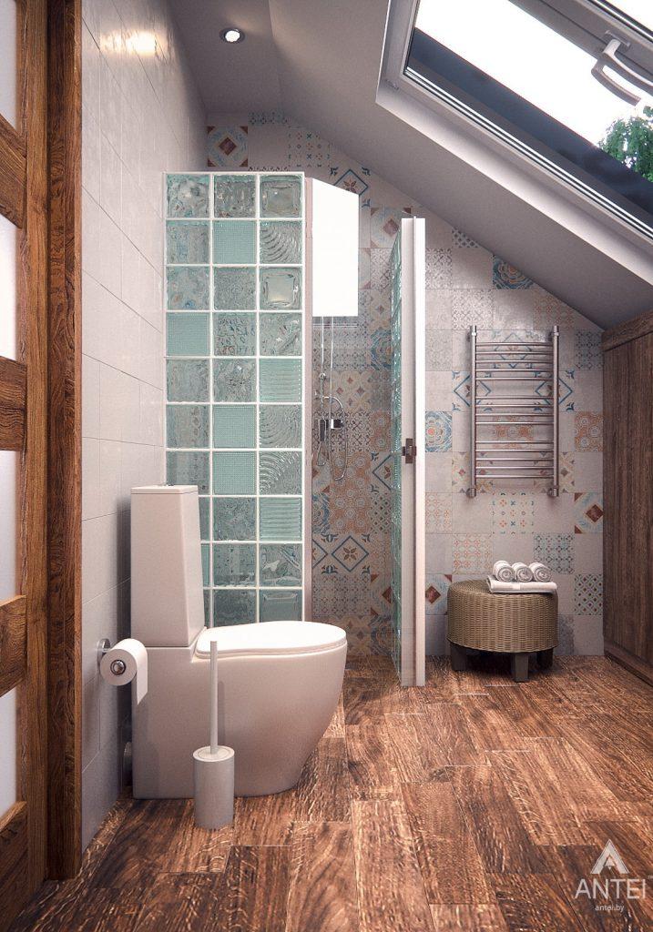 Дизайн интерьера загородного дома в Минском районе - туалет фото №2