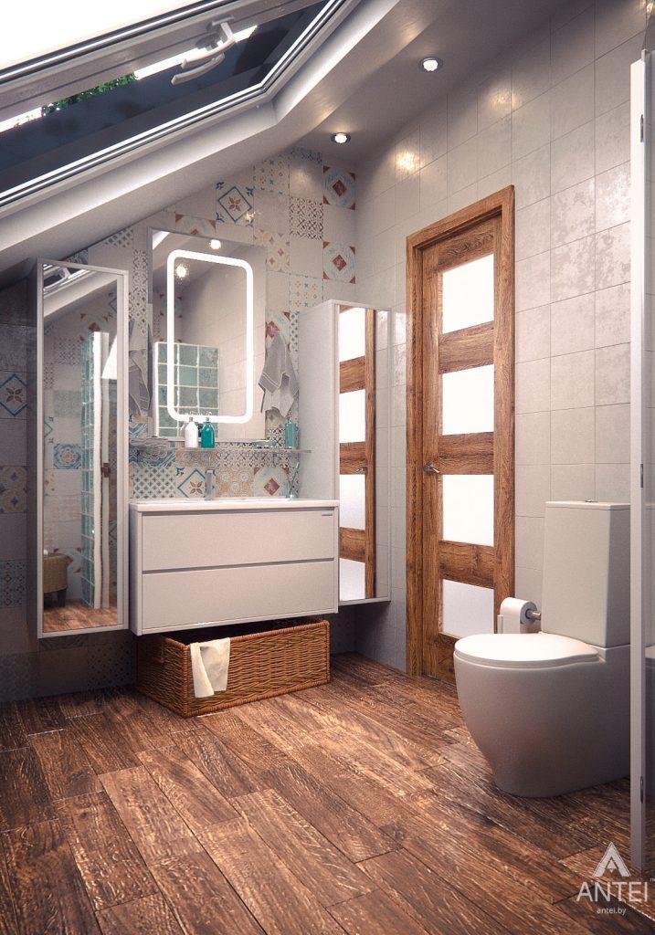 Дизайн интерьера загородного дома в Минском районе - туалет фото №1