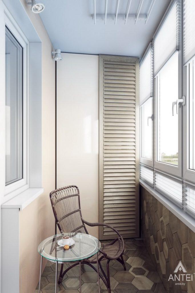 Дизайн интерьера квартиры в Гомеле, ул. Мазурова - балкон фото №1